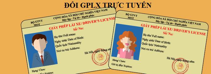 Cấp, đổi GPLX trực tuyến